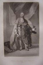 Grande gravure Portrait de Louis Philippe Joseph d'Orléans Duc d'Orléans  1793