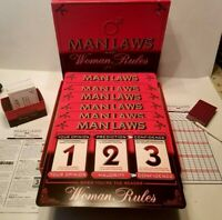 Man Laws And Woman Rules Adult Party Board Game for 2-6 Battle Of Sexes