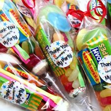 Pre Filled Sweet Cones x 5, Candy Birthday Party Bags, Unisex Loot Favours