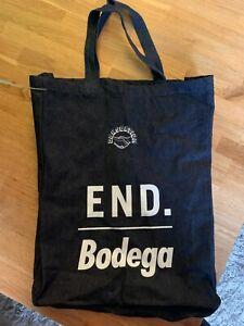 brand new unused END x BODEGA x CONSORTIUM Denim Tote Bag Navy