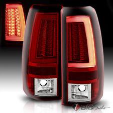 For 03-06 Silverado/Sierra R/C LED Tail Lights w/Fiber-Optic Tube & LED Signal