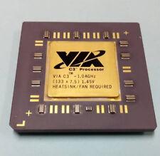 Rare ceramic CPU VIA C3 1000 Mhz , 1.45V. 370 Socket. Tested and working.