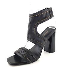 36e793b2a94 Rebecca Minkoff Christy Black Leather Ankle Cuff Sandals Women s Size 8.5 M