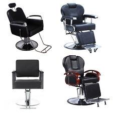 Salon Spa Haircut Barber Chairs, Hydraulic Reclining Hair Beauty Equipment Black