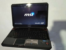 MSI GT683 gaming laptop, Windows 10,i5 CPU,8GB,250GB SSD, new battery