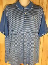 Ahead Extreme Golf Polo MCAS Miramar Golf Course Shirt Blue & White Striped XL
