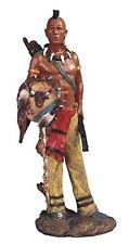 8.5 Inch Native American Indian Warrior w/ Shield Statue Figurine North Indio