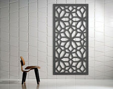 Laser Cut Metal Decorative Screen Snowflake Mild Steel - 1200 x 600
