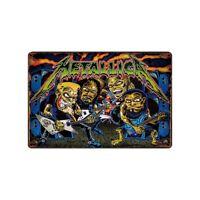 Metallica Pinball Game Tin Metal Sign Rustic Advertising Wall Art decor