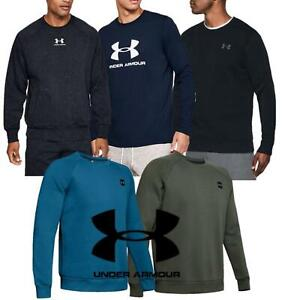Under Armour Mens Rival Fleece Crew Neck Long Sleeve Pullover Sweat Gym Jumper