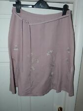 Ladies NEXT Dusty Pink Flared Linen Skirt Size 12