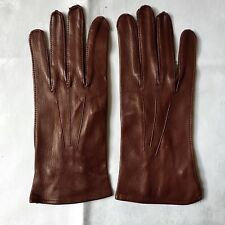 Vintage Brown Fine Kid Leather Gloves, Beautifully Made. Size 8. New