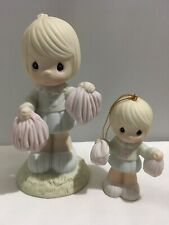 Precious Moments 1987 Cheer Figurine And 1988 Cheer Ornament 190443