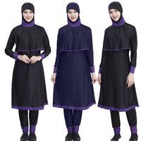 Modest Women Swimwear Muslim Full Cover Swimsuit Beachwear Islamic Arab Clothes