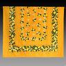 große Tischdecke in  Gelb mit Zitronen, Provencestil 235x140 100% Baumwolle