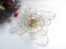 Hazel Atlas Leaf Buffet Tray / Lazy Susan - 5 Pcs. Vegetable Tray Relish Dish