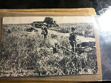 War Postcard By The Chicago Press Whippet Tank In Action Troops Digging In Fran