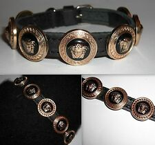 Versace Medusa Head Clous Designer Puppy/Small Dog/Cat Collar-nouveau bling