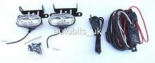 Universal Spot / Fog Lights Lamps + Complete Wiring Kit for Toyota Hilux Rav4