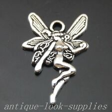 50062  Antique Silver Butterfly Fairy Pendant Charms Finding 80pcs