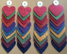 Stampin Up Embossed Hearts Regal Colors Die Cuts-4 Designs - You Choose