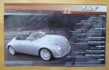 PGO Automobiles PORSCHE 356 Classic & Speedster II brochure - c2001