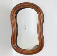 "26""x17"" Antique Holsten & Hammer Oval Wood Frame Mirror (Pat. 1862)"