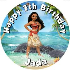 """Moana   Premium Edible icing sheet  7.5"""" Round Cake Toppers Decoration"""