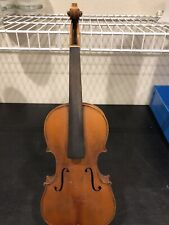 Vintage Antique German Violin W/ Case Body Only (For Repair)