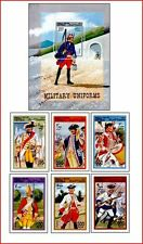 SOM9706 Military uniforms 6 stamps and block