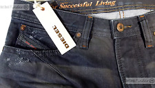 NEW DIESEL SHIONER = SIZE 28X30 = WASH 0824Y DISTRESSED SLIM-SKINNY DENIM JEANS