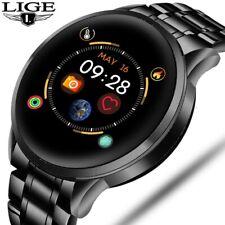 Montre LIGE Intelligente En Acier Hommes Sport Étanche Pour IPhone