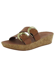 Fitflop Womens Duo Buckle Slide Sandal Leather Shoes