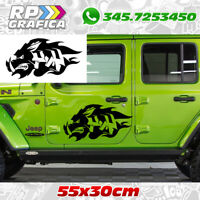 Kit 2 adesivi chinghiale JEEP 4x4 fuoristrada stickers off road tuning