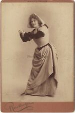Marie Delma Actrice Photo Reutlinger Paris Vintage ca 1890