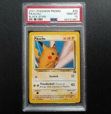 """2001 Pokemon Pikachu """"Snap"""" Black Star Promo 26 PSA Gem Mint 10"""