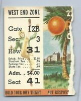 1956 Orange Bowl college football ticket Oklahoma Sooners v Maryland Terrapins