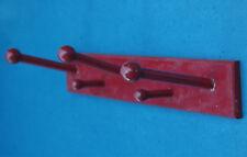 1970s Holz Garderobe rot - Vintage Kleiderhaken - auch als Handdtuchhalter