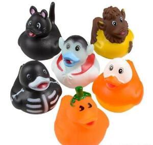 12 Halloween Monster Costume Rubber Duckies - Cupcake Toppers Goody Bag Ducks