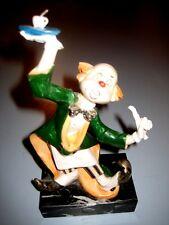 Vintage Fontanini Depose Italy Clown Figurine Waiter Clown Carrara Marble #951