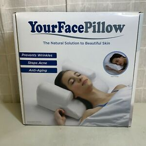 YourFacePillow White Memory Foam Ergonomic Neck Support Pillow For Anti-Aging