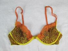 119ec97725 VICTORIA S VICTORIA SECRET VERY SEXY LACE DEMI TIGER PRINT ORANGE BROWN BRA  34C
