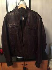 Tibet -  Bod & Christensen- Leather - NWT - 3XL Brown Jacket Padded