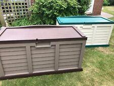 More details for starplast outdoor garden storage utility chest cushion box case 440l sit-on lid