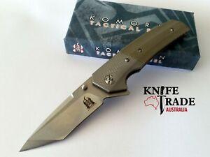 Komoran KO020 Folding Pocket Knife Flipper Deployment Stainless/G10 Handle EDC