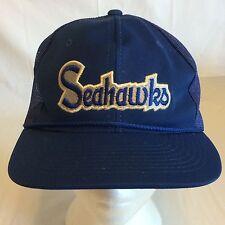 Vintage Seattle Seahawks Mesh Trucker Snapback Hat YR Brand HTE06
