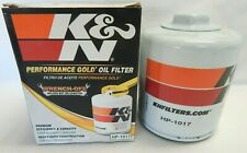 K&N Performance Engine Oil Filter HP1017 Premium Gold Wrench Off On