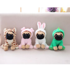 "4pcs Large Plush Toys Pug 8"" Pug Dog in 7 Costumes Cuddly Teddy Plush Animal Kid"
