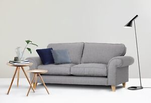Angie 2+3 Seater, Armchair, Cuddle Chair Love Seat in Light Grey