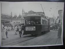SHEMEN Olive Oil Palestine Advertising. India street Tramway 1920 Original photo